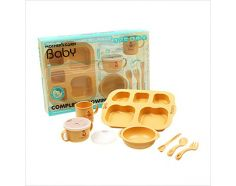 Mother's Corn Baby Growing Up Set comes complete with all that are needed when babies begin eating! This set comes with a feeding spoon, bowl, 4 way snack cup, meal plate, self-training spoon & fork and training cup.  Why choose Mother's Corn products?  SAFE  1. BPA Free  Mother's corn products made of corn are free from not only environmental hormone but also other hazardous ingredients like carcinogenic substance, heavy metals and the like.  2. Using Non-Toxic Ink As non-toxic ink c…