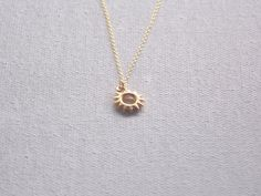 Sun Necklace Gold Necklace Layering Necklace by DelicateAndLayered, $40.00