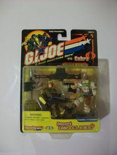 G.I.JOE: GI JOE VS COBRA DUSTY VS DESERT COBRA C.L.A.W.S. MOC FREE SHIPPING! #Hasbro