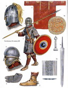 roman army warrior of the 4th century AD