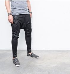 Paisely Coated Harem Baggy-Sweatpants 188