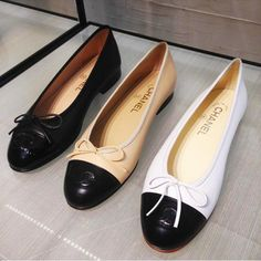 CHANEL SHOES   Chanel Ballerina Flats Reference Guide – Spotted Fashion Chanel  Ballerina Flats, Chanel bfab1bbb8ea