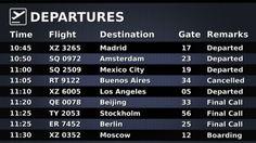 airport info board - Google Search