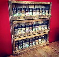 Rustic Pallet Spice Rack
