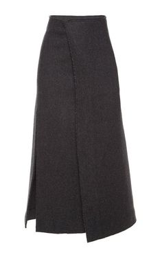 Herringbone Felt Skirt by Marni for Preorder on Moda Operandi