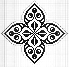 Square 23 | Free chart for cross-stitch, filet crochet | Chart for pattern - Gráfico