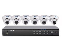 Kick your HD recording into high gear with the Turbo Powered 8 channel NVR & 6 IP Camera bundle solution from FLIR. The   DN308P2E6 utilizes a superior horsepower 160 Mbps NVR throughput to enable real-time recording on all 8 channels at Full HD   1080p resolution. The system is simple to connect with 8 integrated PoE inputs and automatic discovery of the IP Cameras - no   configuration required.The outstanding value bundle includes 6 IR Dome IP Cameras with 2.1 MP resolution providing ...