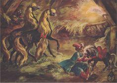 """The Little Humpbacked Horse""  (Konyok-Gorbunok) - 1960 - illustration by J.M. Szancer"