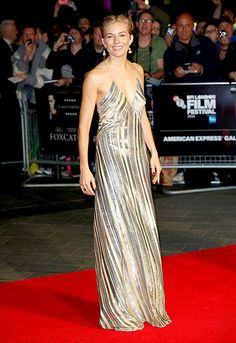 Sienna Miller glittered on the red carpet for the BFI London Film Festival premiere of Foxcatcher.