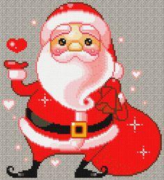 cute santa clause stitch pattern