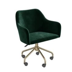 Buy Navy Blue Velvet Office Swivel Chair with Gold Base - Marley from - the UK's leading online furniture and bed store Velvet Office Chair, Swivel Office Chair, Home Office Chairs, Desk Chair, Large Furniture, New Furniture, Online Furniture, Green Desk, Green Office