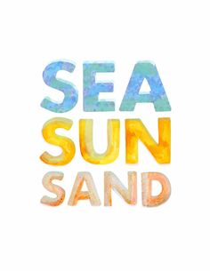 SEA SUN SAND by erinjaneshop on Etsy, $16.00