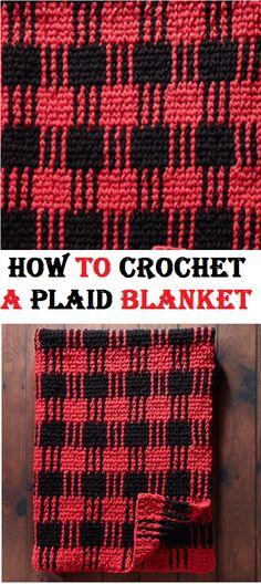 crochet plaid blanket