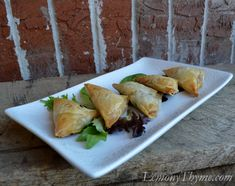 Spinach Phyllo Triangles {Step-by-Step}