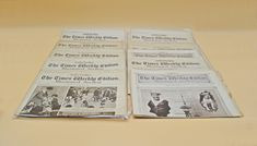 9 Editions Of 'The Times Weekly Edition Illustrated Section' Newspaper, Vintage English Newspaper, Ephemera English Newspapers, Weekly Newspaper, Wood Owls, Star Show, Christmas Gifts For Him, Party Service, December 12, Art Deco Fashion, Ephemera
