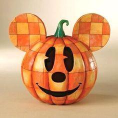 """Happy Halloween"" Mickey Mouse Halloween pumpkin (Jim Shore Disney Traditions) LOVE IT!"