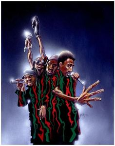 A Tribe Called Quest - 20x24 giclee on canvas - Justin Bua