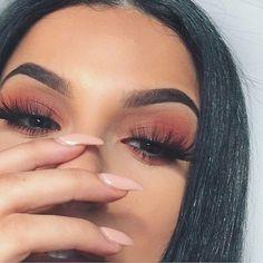Gorgeous Makeup: Tips and Tricks With Eye Makeup and Eyeshadow – Makeup Design Ideas Makeup On Fleek, Flawless Makeup, Cute Makeup, Gorgeous Makeup, Pretty Makeup, Skin Makeup, Eyelashes Makeup, Sleek Makeup, Unique Makeup