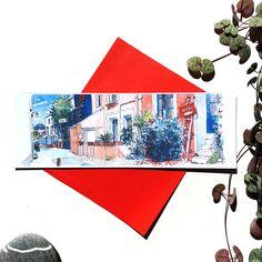 Marque-page Trentemoult dessin ruelle colorée illustration