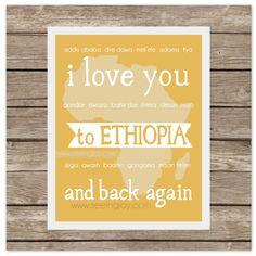I Love You to ETHIOPIA and Back (Adoption)