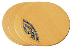 Kauri Coasters :: Sets of 4 :: Choice of inlays complete with gift box.