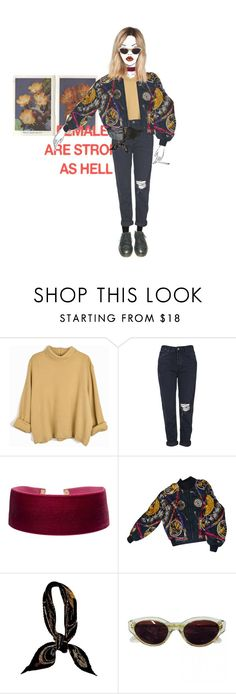 """""""FEMALE"""" by outfighter ❤ liked on Polyvore featuring Garance Doré, Ødd., Topshop, Georgine, Hermès, RetroSuperFuture and Dr. Martens"""