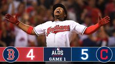 Oct 6, 2016: THe Indians win Game 1 of the ALDS v BOS: W: A Miller/L: R Porcello/SV: C Allen