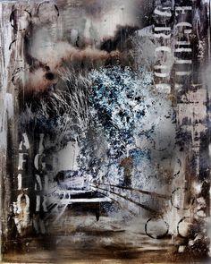 Autumn Trees Digital Art Print 'Follow The by cathymariecreations