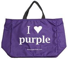 """I Heart Purple"" Tote Bag (I Love Purple)"