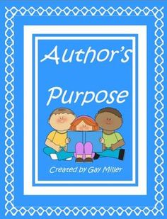 Great freebie for Author's Purpose