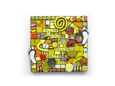 Follow Your Own Yellow Brick Road. MOSAIC ART Handmade by ShawnDuBois on Etsy