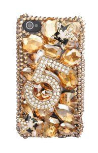 Amazon.com: NEW STYLE! IPHN5! GOLD/TOPAZ BLING 3d Handmade Swarovski Crystal & Rhinestone Iphone 5 case/cover by Jersey Bling: Cell Phones & Accessories