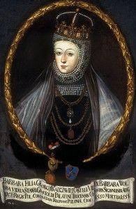 Barbara Radziwill, second wife of King Sigismund II Augustus of Poland.
