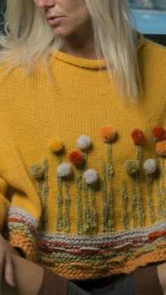 × - Everything About Knitting Embroidery Patterns, Hand Embroidery, Knitting Patterns, Crochet Patterns, Crochet Motifs, Knit Crochet, Knitting Designs, Knitting Projects, Sweater Design
