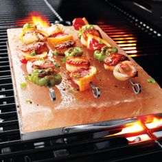 Don't miss out on grilling on a Himalayan Salt Block! #PebbleTec #BackyardHost #BHCproject