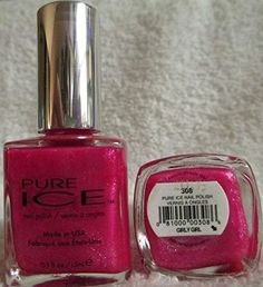 Bari Pure Ice Nail Polish 308 Girly Girl Dark Pink Shimmer 5 Fl Oz *** You can find out more details at the link of the image.Note:It is affiliate link to Amazon.