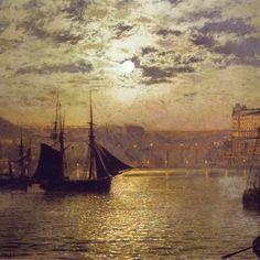 Atkinson Grimshaw, Scarborough al chiaro di luna (1876 c.)