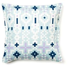 Check out this item at One Kings Lane! Native 16x16 Cotton Pillow, Light Blue