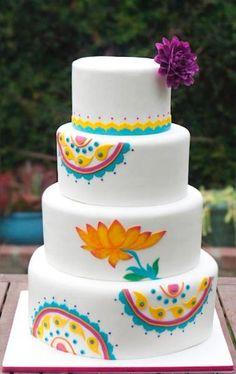 Wedding Cake Designs, Wedding Cakes Photos by Erica OBrien Cake Design #indianwedding, #shaadibazaar
