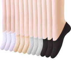 Amandir 12 Pairs Thin Casual No Show Socks,Cotton Socks for Flats,Liner Socks #Amandir #Casual