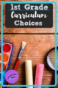 Our Grade Curriculum Choices - The Outmatched Mama Homeschooling First Grade, Best Homeschool Curriculum, First Grade Curriculum, 1st Grade Science, Montessori Homeschool, Preschool Curriculum, First Grade Math, Grade 1, Second Grade