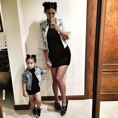 Mommy and daughter fashion❤