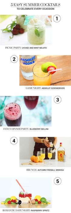 5 cocktail recipes that can be made for every occasion, they are super easy to…