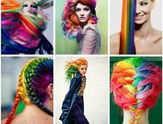 Inspiration color. Rainbow hair!