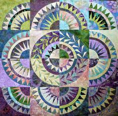 "Beautiful New York Beauty Quilt (From ""Sue Garman: Part Two: Workshops, Retreats, a Mystery... and More!!!"")"