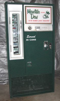 Restored Vintage 1960's Mountain Dew Vendo Vendo 63 Machine