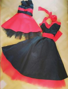 e5e4c27a8cdc Matching Mother Daughter Dress Mommy And Me Dress Matching Dresses Red And  Black Rockabilly Custom Made Dress With Petticoat