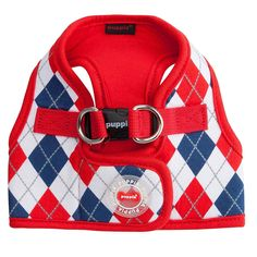 Elegant Argyle Dog Harness Vest by Puppia Red Puppia. Dogs will look amazing for a day out in the Argyle Dog Harness Vest by Puppia in Red. Custom Dog Houses, Rhinestone Dog Collar, The Argyle, Designer Dog Beds, Pet Boutique, Dog Blanket, Pet Carriers, Dog Sweaters, Dog Coats