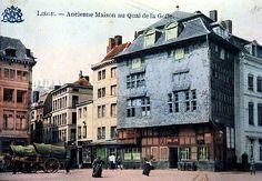 LIEGE (Belgique) ; Ancienne maison au quai de la Goffe ; La maison Havart