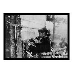 Navajo Indian Weaver 1912 Print